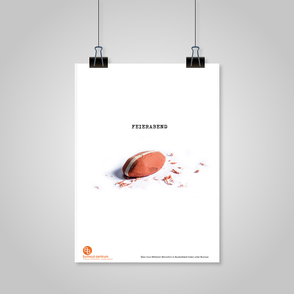 Hanging paper with shadow on a grey background