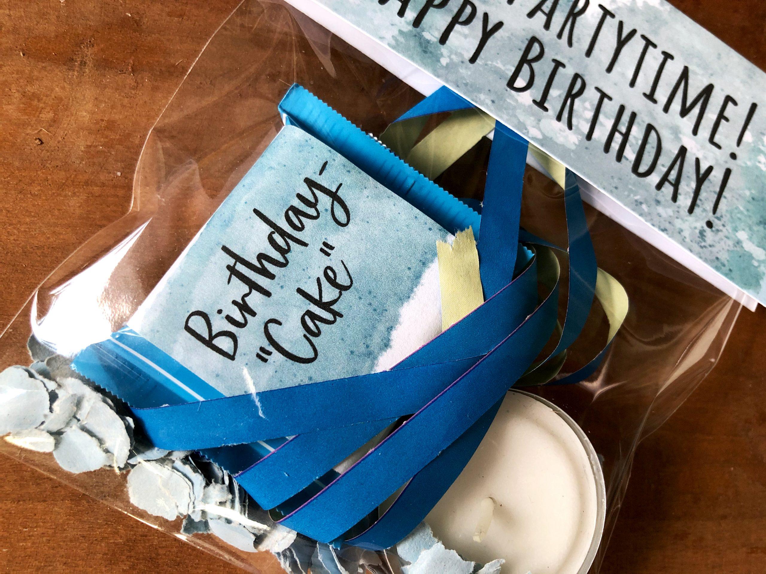 Geburtstag in der Tüte